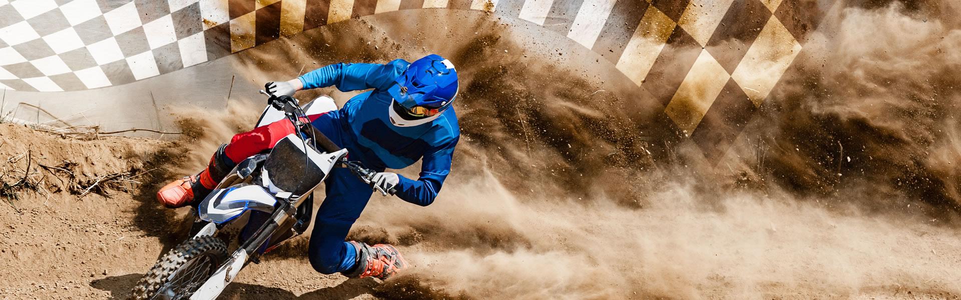 Man on his motocross