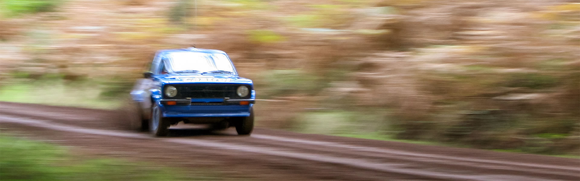 Rally car in full speed